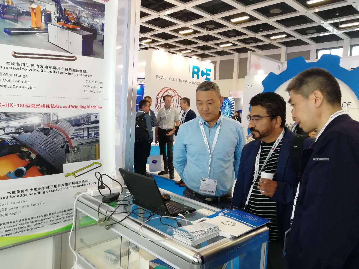 Mexico customer in our booth of 2019 CWIEME Berlin.jpg